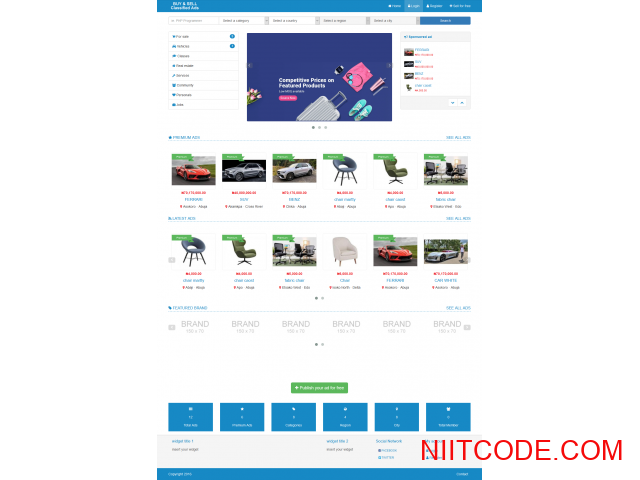 Classified Ads just like jiji and olx  CMS PHP Script - Classified - 1/3
