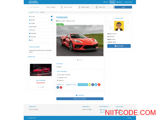 Classified Ads just like jiji and olx  CMS PHP Script - Classified - 2/3