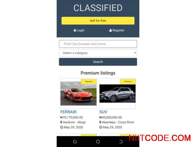 Classified Ads just like jiji and olx  CMS PHP Script - Classified - 3/3