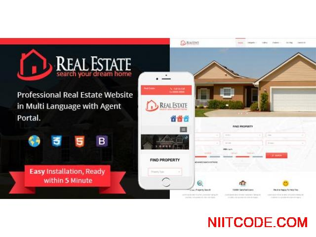 Real Estate Script with Admin, Agent and Renter/Buyer site - 1/11