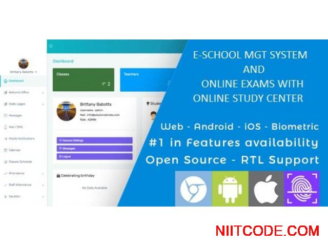 Complete School management system and online examination system - 1/6