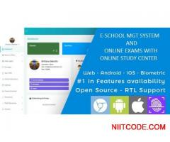 Complete School management system and online examination system